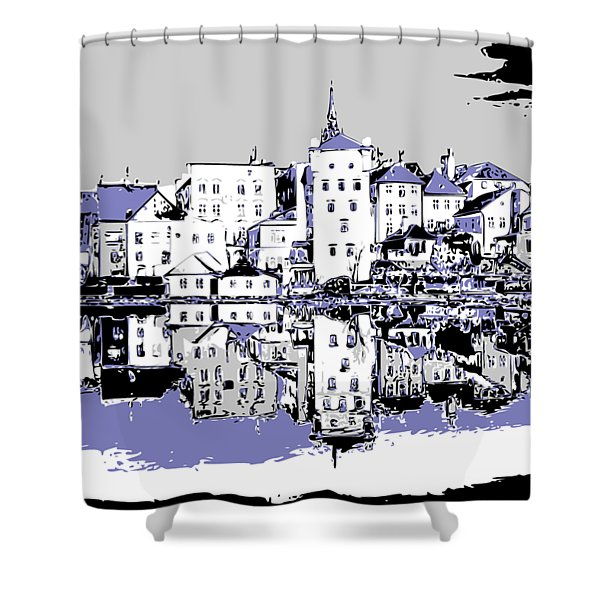 Seaport Mirror Shower Curtain
