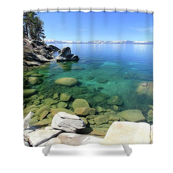 Search Her Depths  Shower Curtain