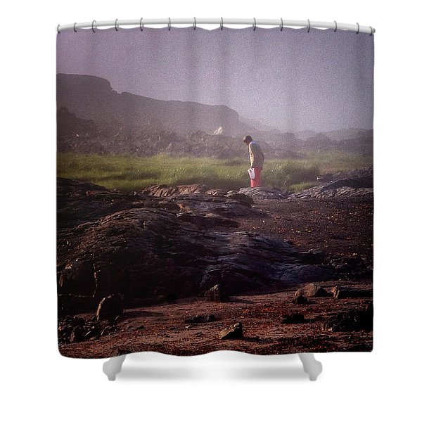 Searching For Shells Shower Curtain