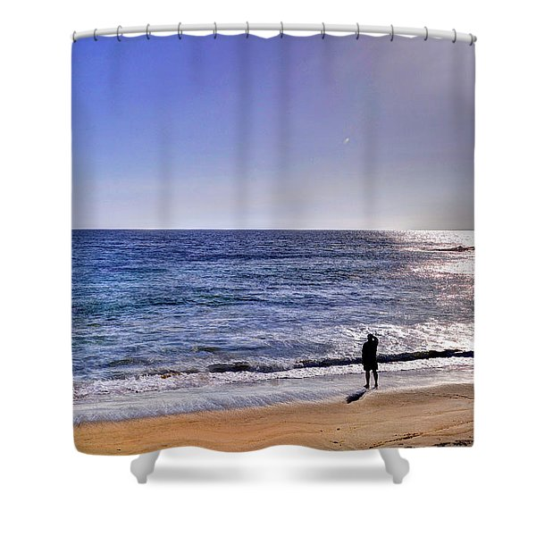 Searching To The Sea Shower Curtain