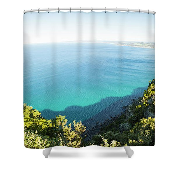 Seas Of Turquoise Blue Shower Curtain
