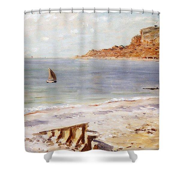 Seascape At Sainte Adresse  Shower Curtain