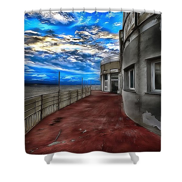 Seascape Atmosphere - Atmosfera Di Mare Dig Paint Version Shower Curtain
