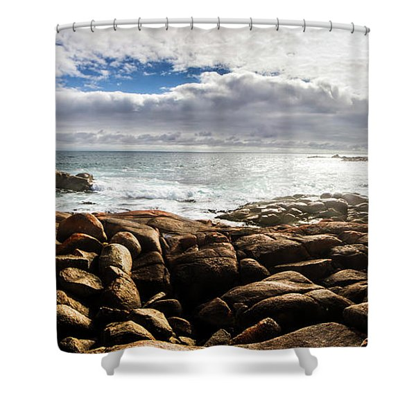 Seascape In Harmony Shower Curtain