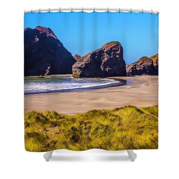 Seascape Oregon Coast Shower Curtain