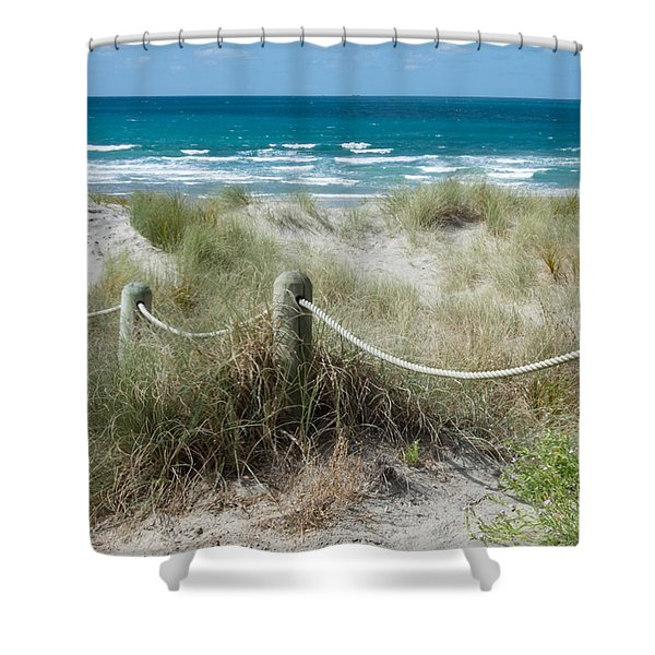 Seaside Beach Ropes Shower Curtain