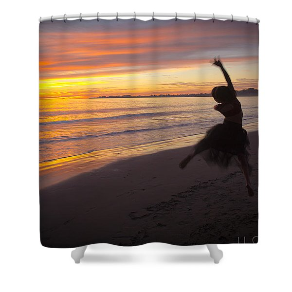 Seaside Dancer Shower Curtain