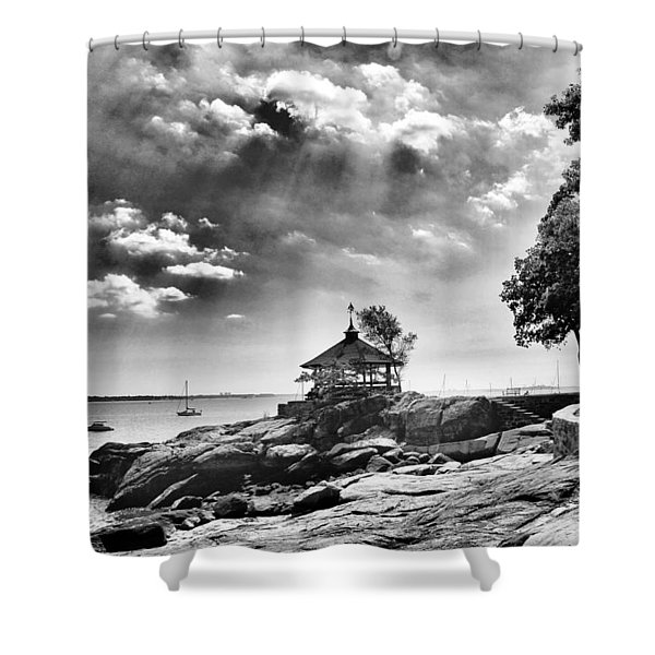Seaside Gazebo Shower Curtain