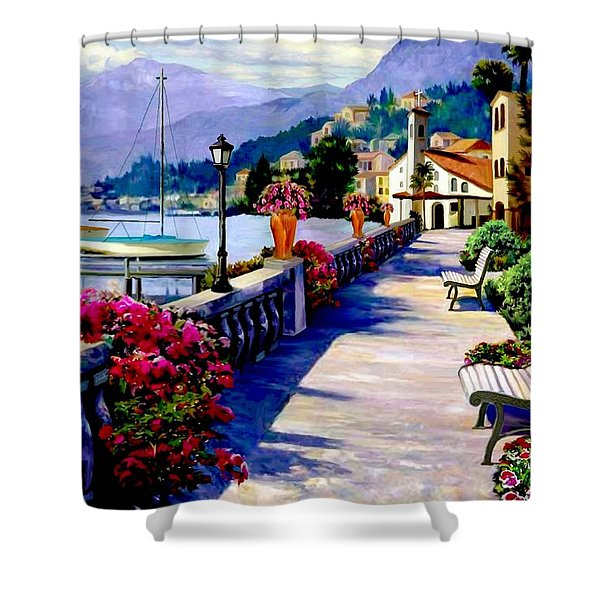Seaside Pathway Shower Curtain