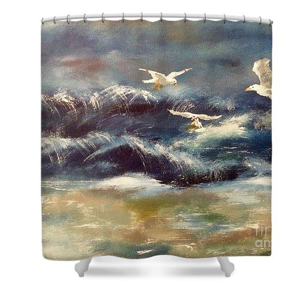 Seaside Serenade Shower Curtain