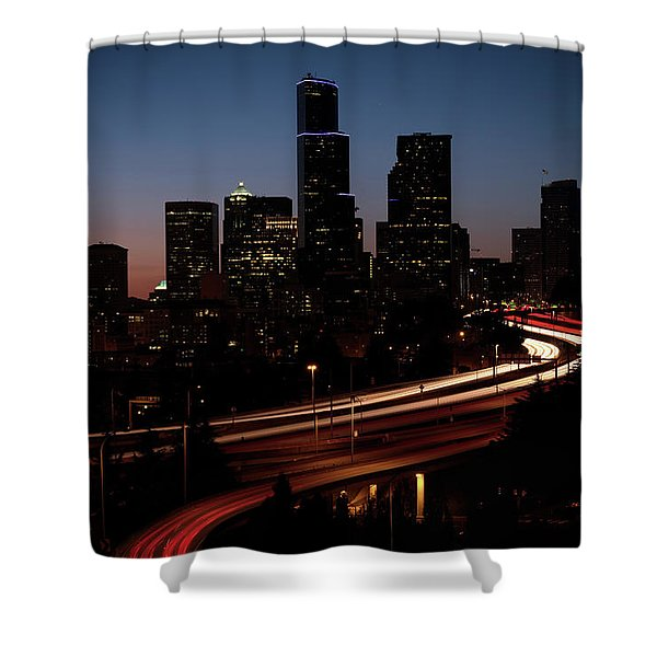 Seattle At Dusk Shower Curtain