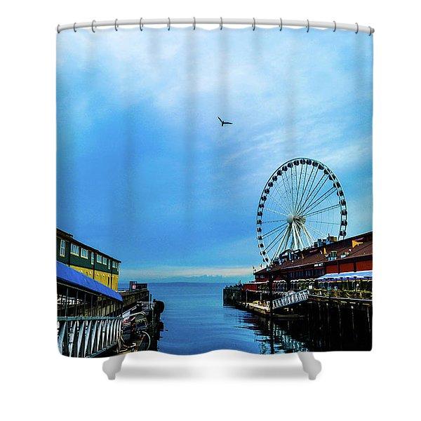 Seattle Pier 57 Shower Curtain