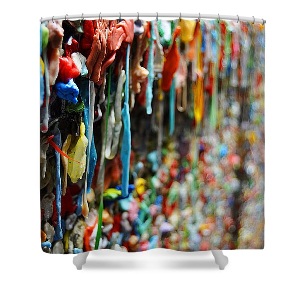 Seattle Post Alley Gum Wall Shower Curtain