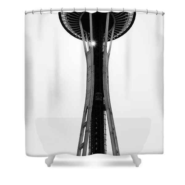 Shower Curtain featuring the photograph Seattle Space Needle by Michael Hope