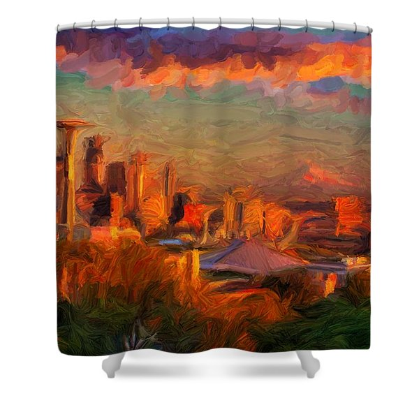 Seattle Sunset 1 Shower Curtain