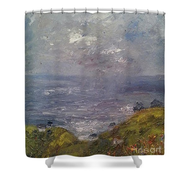 Shower Curtain featuring the painting Seaview by Genevieve Brown