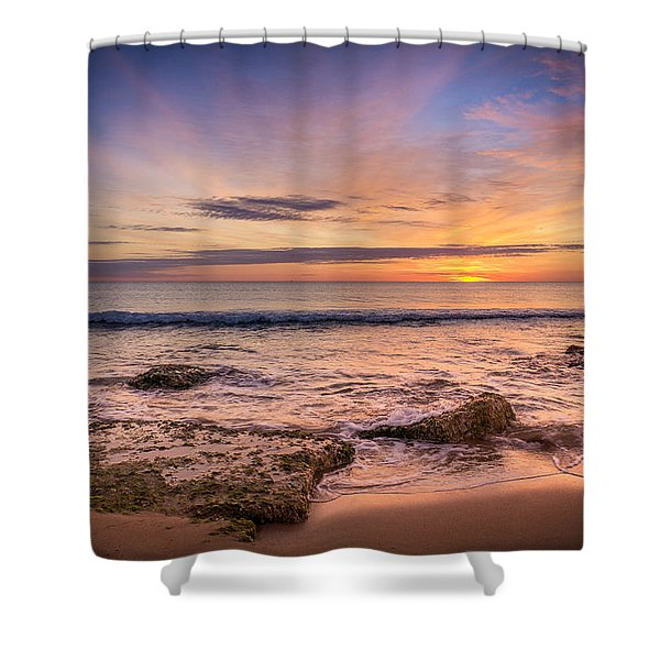 Seaview Sunrise. Shower Curtain