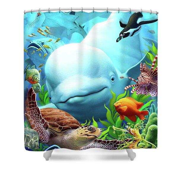 Seavilians 2 Shower Curtain