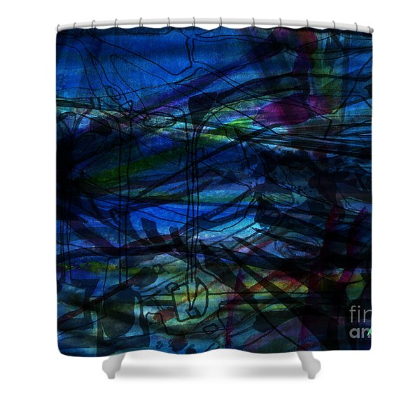 Seaweed And Other Creatures Shower Curtain