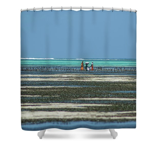 Seaweed Colectors Shower Curtain
