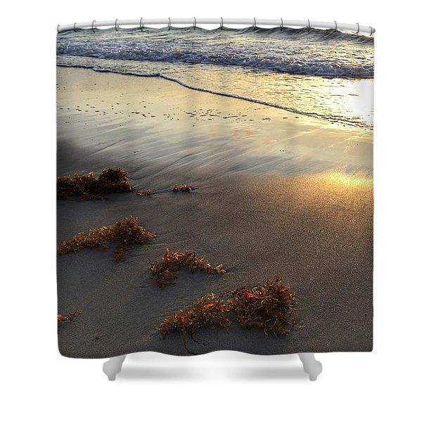 Seaweed Glow Shower Curtain