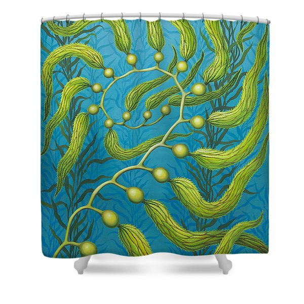 Seaweed Spiral Shower Curtain