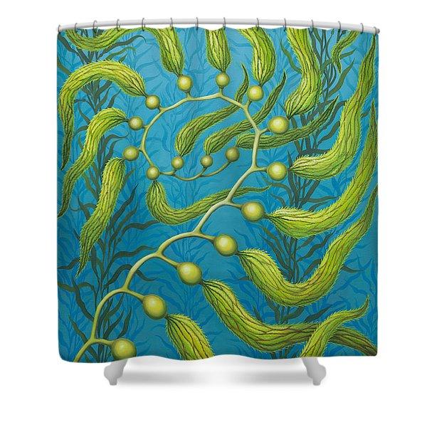 Seaweed Spiral Shower Curtain