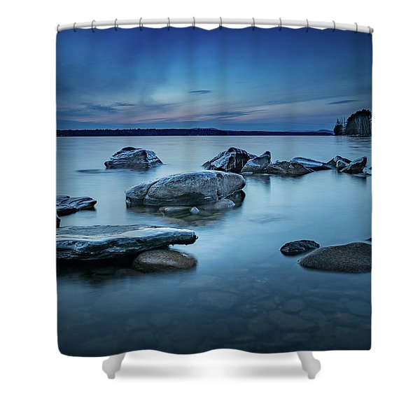 Sebago Blue  Shower Curtain