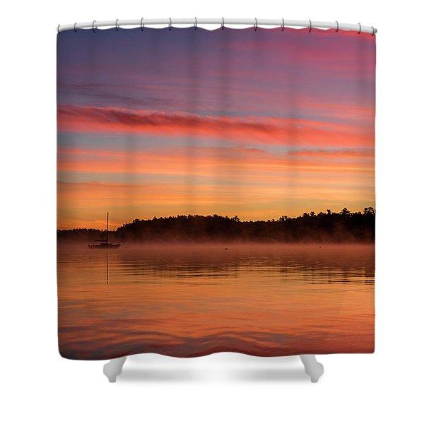 Sebago Sunrise Shower Curtain