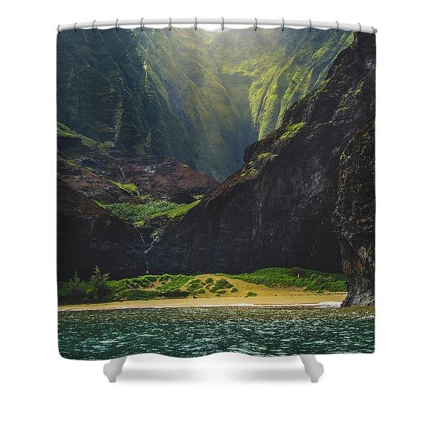 Secluded Kalalau Beach Shower Curtain