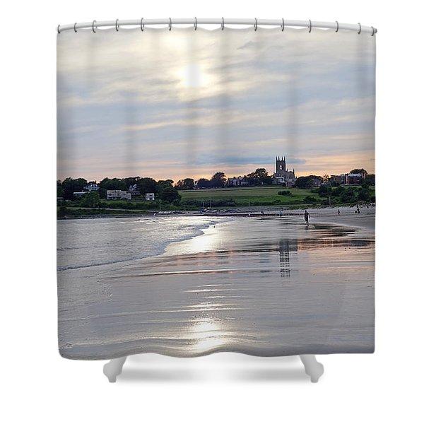 Second Beach Newport Ri Shower Curtain