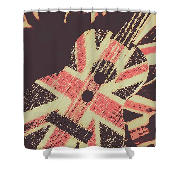 Second British Invasion Shower Curtain