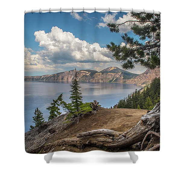 Second Crater View Shower Curtain