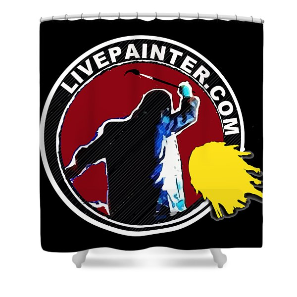 second Official Live Painter Logo  Shower Curtain