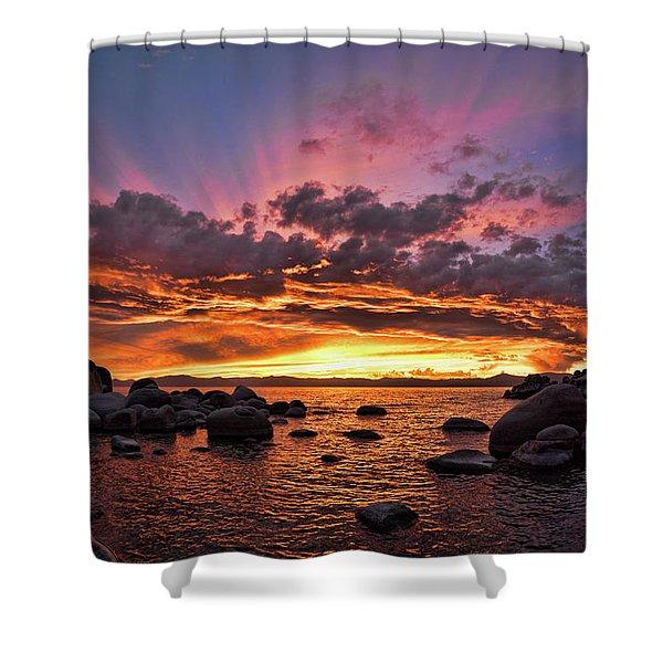 Secret Cove Sunset Shower Curtain