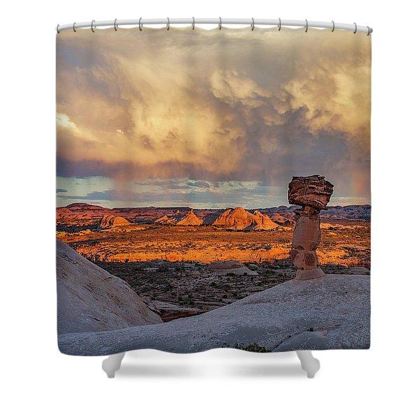 Secret Spire Sunset 1 Shower Curtain