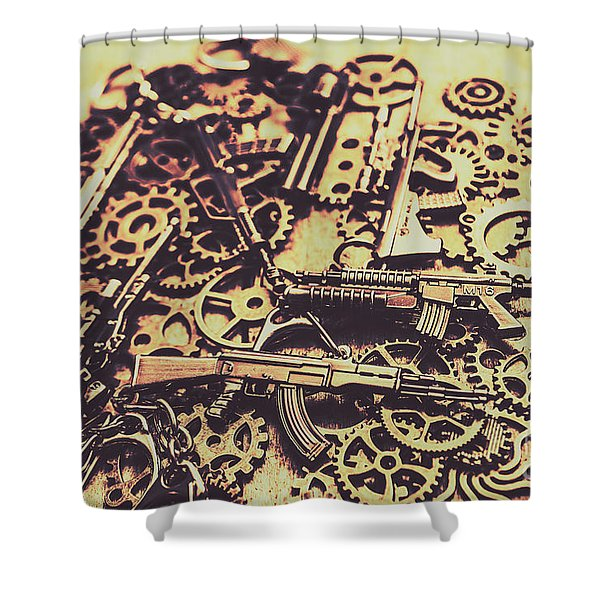 Security Stockpile Shower Curtain
