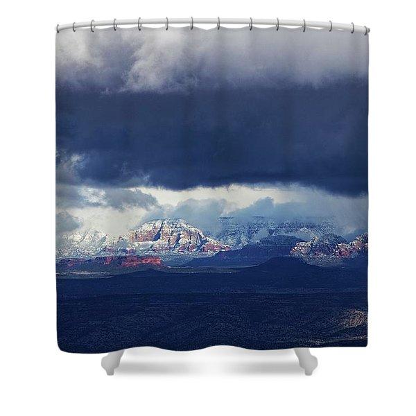 Sedona Area Third Winter Storm Shower Curtain