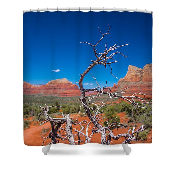 Sedona Blue Shower Curtain