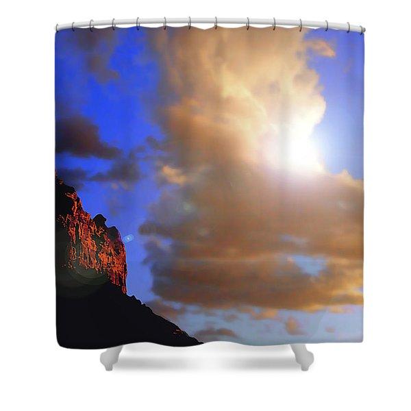 Sedona Mountain Cloud Sun Shower Curtain