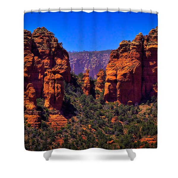 Sedona Rock Formations II Shower Curtain