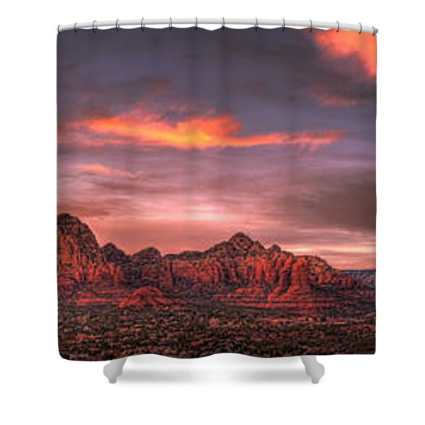 Sedona Sunset Panorama Shower Curtain