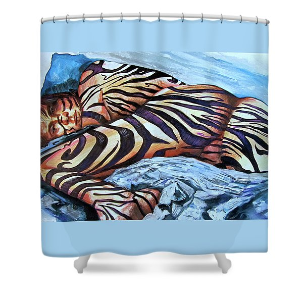 Seduction Of Stripes Shower Curtain