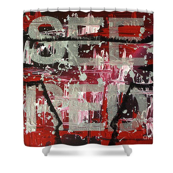 See Red Chicago Bulls Shower Curtain