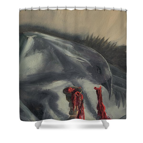 Shower Curtain featuring the painting See You In The Shadows by Break The Silhouette