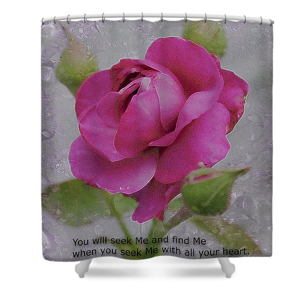 Seek Me With All Your Heart Shower Curtain