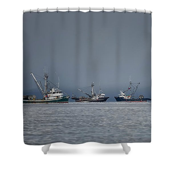 Seiners Off Mistaken Island Shower Curtain