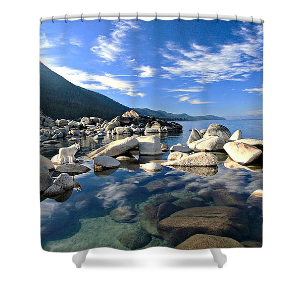 Shower Curtain featuring the photograph  Sekani Morning Glory by Sean Sarsfield