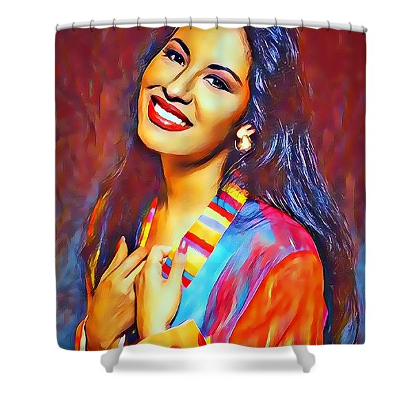 Selena Queen Of Tejano  Shower Curtain