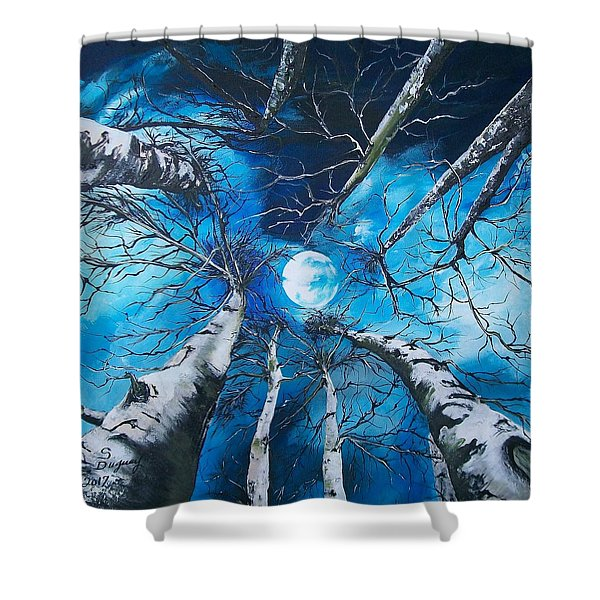 Selenophilia Shower Curtain